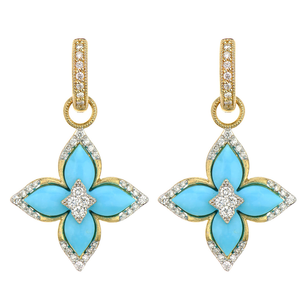 Moroccan Flower Earring Charms