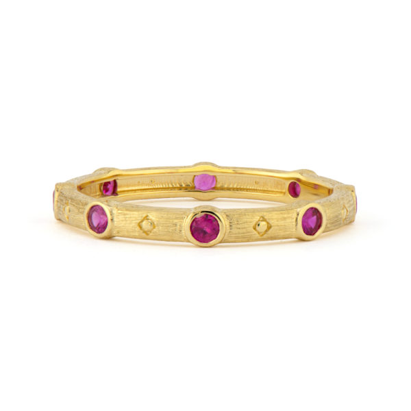 Provence Stacker Ring with Ruby